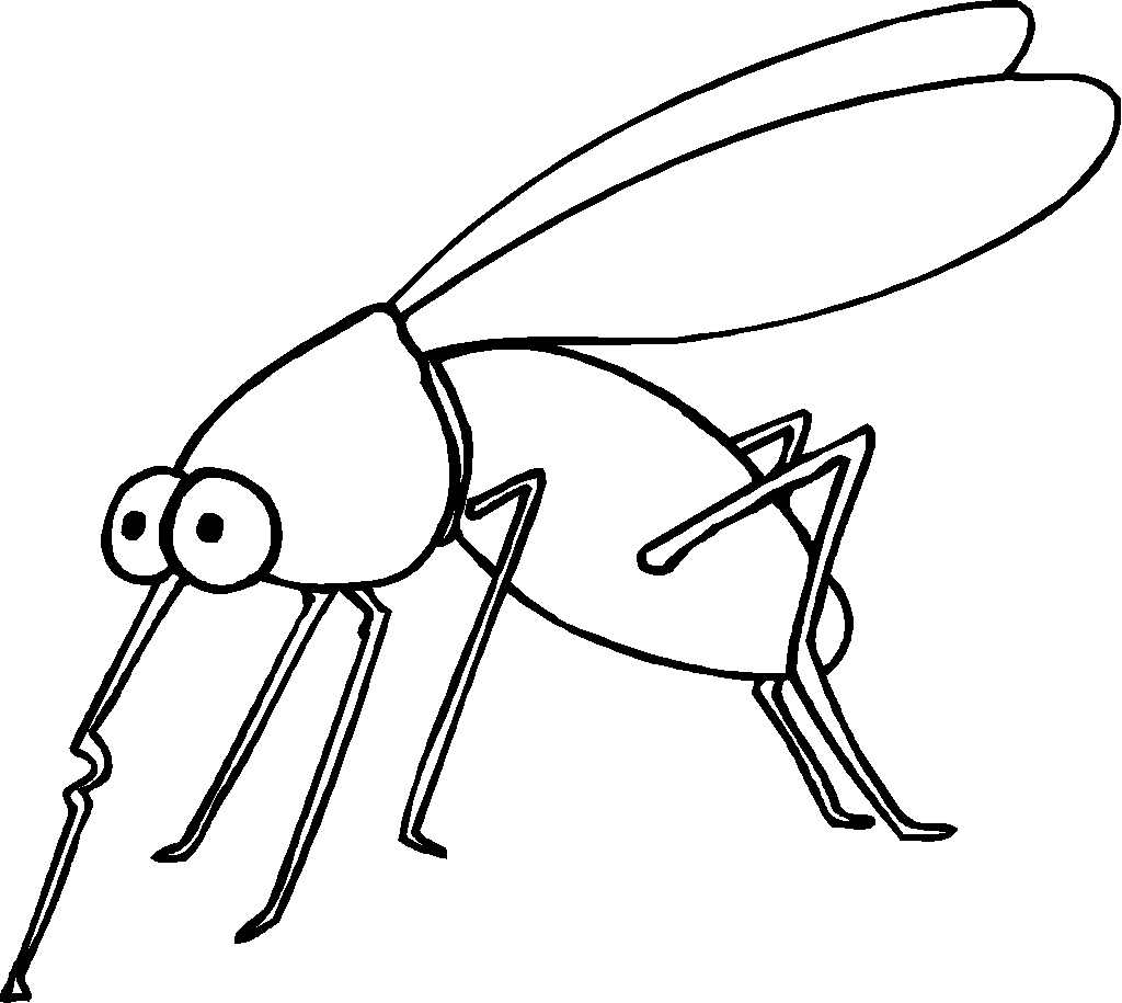 View This Mosquito Coloring Page